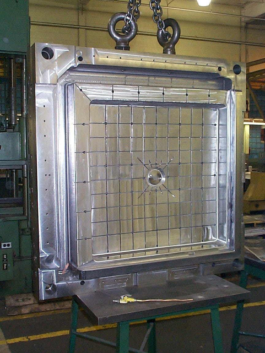 Shower Base Mold in Production